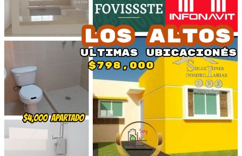 CASAS EN LOS ALTOS UNIFAMILIARES
